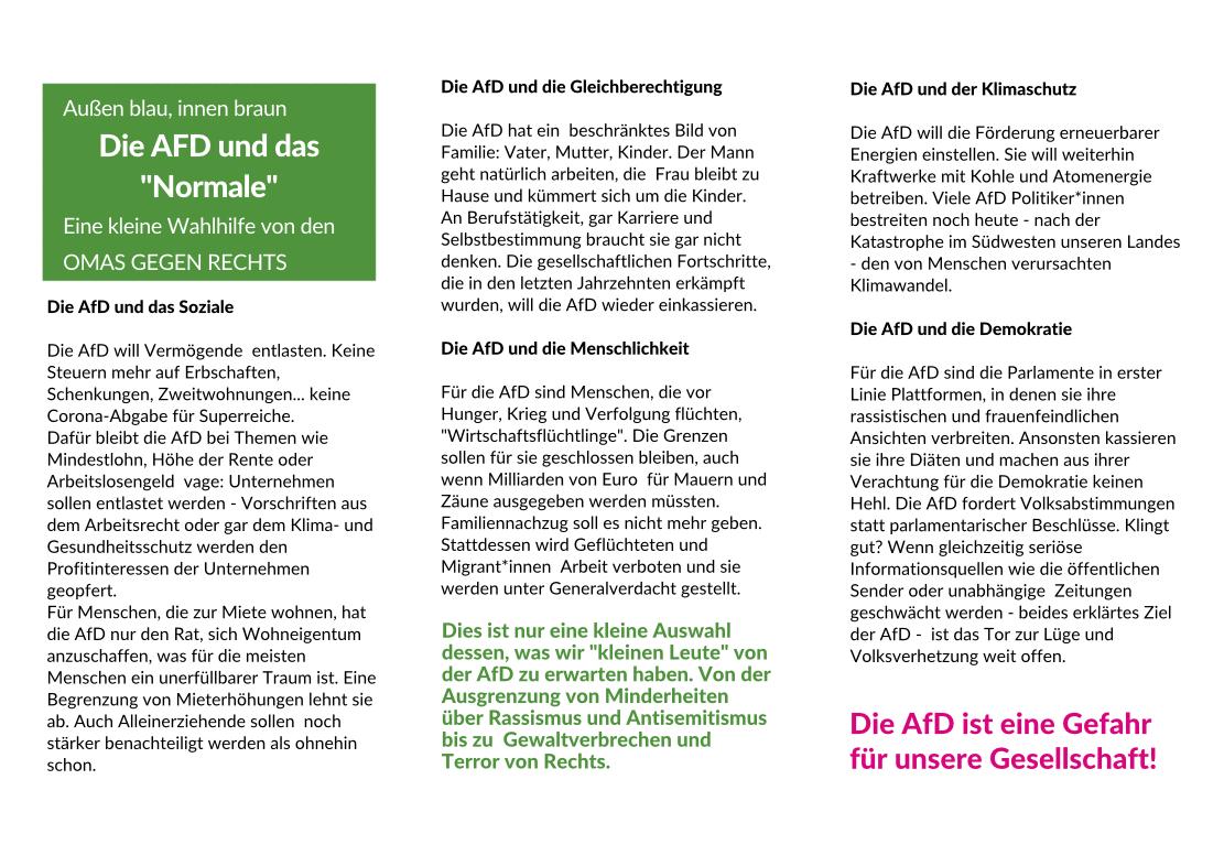 Der Wahlkampf 26.9. 2021 und die Kieler Omas